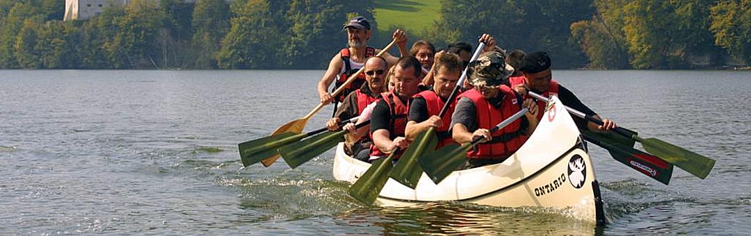 Paddelland_Schweiz: Grosskanadier für Team-Events